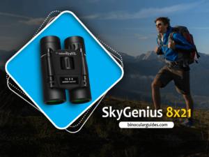 SkyGenius 8x21 – Best Small Compact Binoculars for hiking